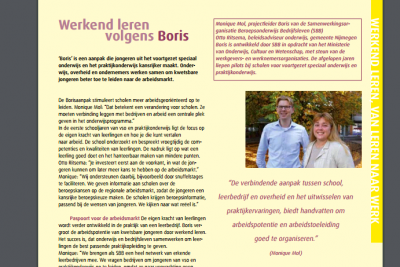 BORISPROJECT IN PUBLICATIE OVER ARBEIDSPARTICIPATIE